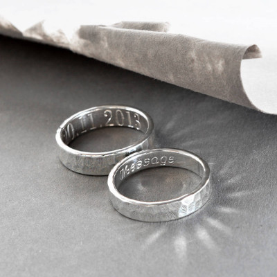 Sterling Silver Secret Message Ring - The Name Jewellery™