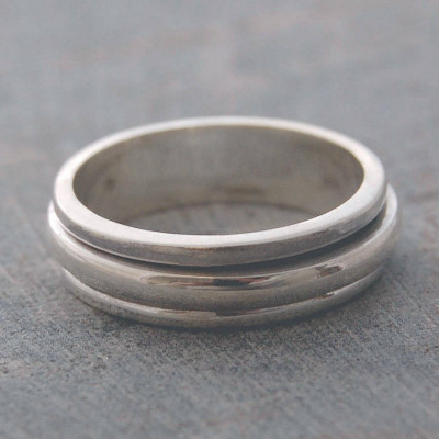 Sterling Silver Spin Ring - The Name Jewellery™