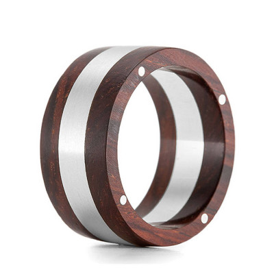 Wood Ring Rivet Two - The Name Jewellery™