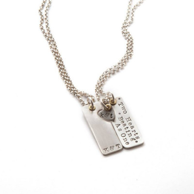Two Hearts Beat As One Couples Necklaces - The Name Jewellery™