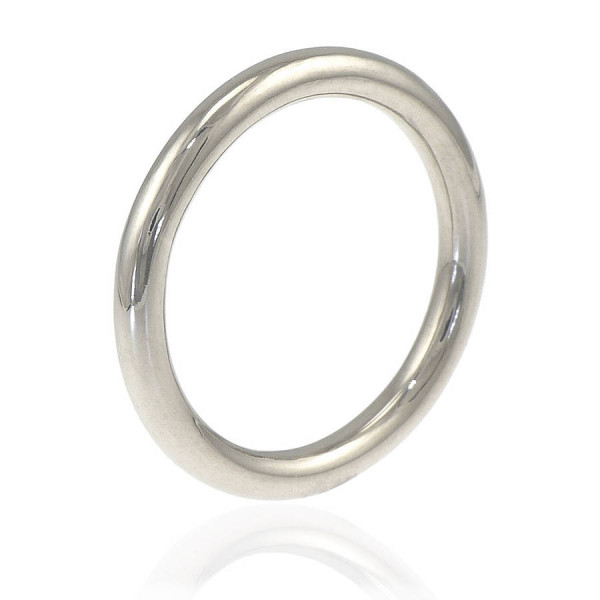 Mens Wedding Ring In 18ct White Gold - The Name Jewellery™