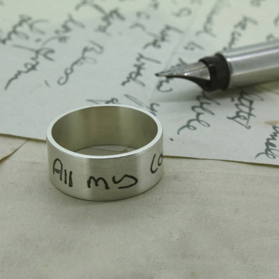 Your Own Handwriting Personalised Ring - The Name Jewellery™